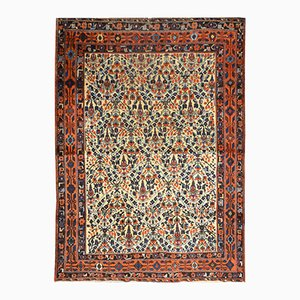 Middle Eastern Rug with Flower Design, 1900s