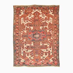 Antiker kasachischer kaukasischer Teppich mit geometrischem Blumenmuster, 1900er
