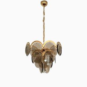 Vergoldete Lampe von Vistosi, 1960er