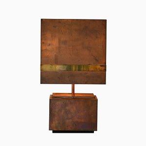 Lámpara de mesa de cobre y latón, años 70