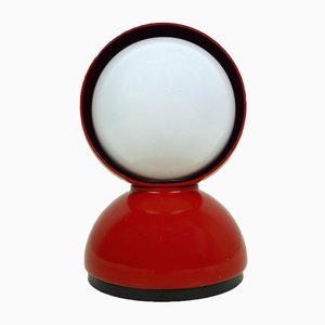 Vintage Eclisse Red Table Lamp by Vico Magistretti for Artemide, 1960s