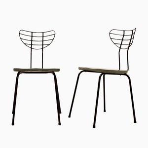 Belgische Stühle, 1950er, 2er Set