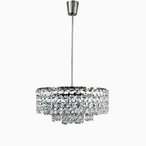 Lámpara de araña vintage de cristal de Bakalowits