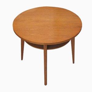 Oak Veneer Side Table with Compass Feet, 1960s