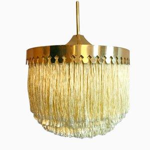 Silk Fringe Brass Pendant by Hans-Agne Jakobsson, 1960s