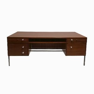 Mid-Century President Desk by Joseph Andre Motte for Dassass