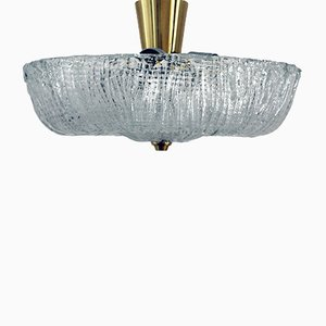 Vintage Flush Mount in Dispersion Glass from Stölzle