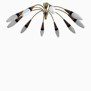 Lámpara de araña vintage grande de Rupert Nikoll