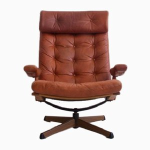 Mid-Century Leather Easy Chair from Gote Mobler