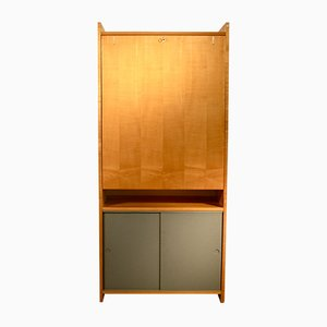 Vintage Shelving Unit with Folding Table by Emil Guhl for Wohnhilfe Zürich