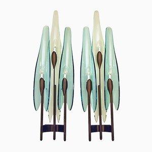 Appliques Dahlia par Max Ingrand pour Fontana Arte, 1950s, Set de 2