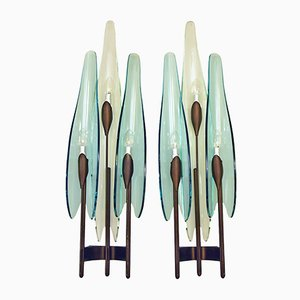 Dahlia Sconces by Max Ingrand for Fontana Arte, 1950s, Set of 2