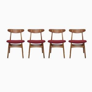 Vintage CH30 Stühle von Hans J. Wegner für Carl Hansen & Son, 4er Set