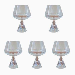 Vasos de brandy Princess vintage de Bent Severin para Holmegaard. Juego de 5