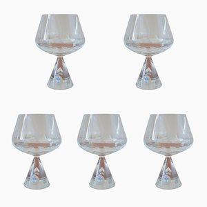 Vintage Princess Brandy Glasses by Bent Severin for Holmegaard, Set of 5
