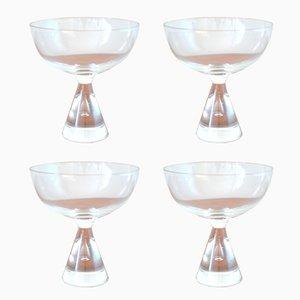 Vasos de licor Princess vintage de Bent Severin para Holmegaard. Juego de 4