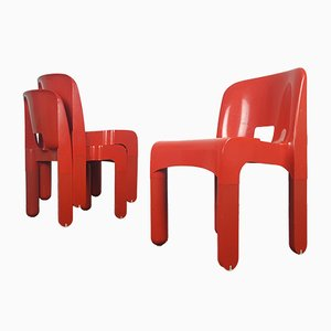 4867 Universale Chairs by Joe Colombo for Kartell, 1965, Set of 3