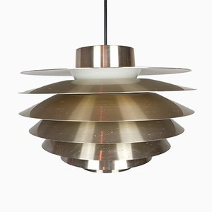 Brass Verona Pendant Light by Svend Middelboe for Nordisk Solar, 1970s