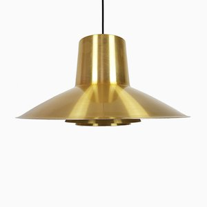 Large Brass Verona Pendant Light by Svend Middelboe for Nordisk Solar, 1970s