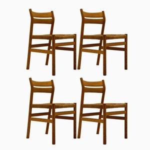 Vintage BM1 Stühle von Borge Mogensen für C.M. Madsen, 4er Set