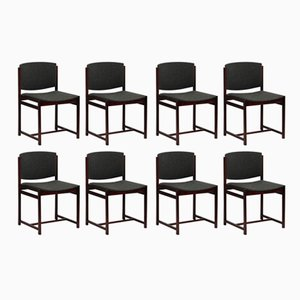 Chairs in Rio Rosewood from V-Form, 1963, Set of 8