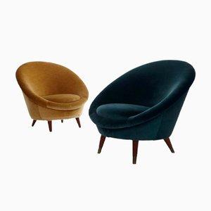 Norwegian Egg Chairs, 1950s, Set of 2