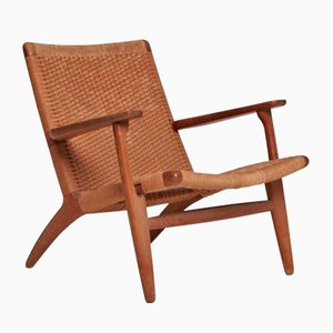 Mid-Century CH-25 Armchair by Hans Wegner for Carl Hansen & Son