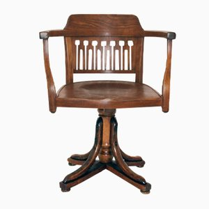 Sedia girevole antica di Otto Wagner per J.J. Kohn, 1905
