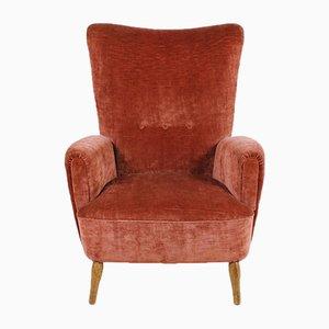 Austrian Wingback Lounge Chair by Oskar Payer, 1950s