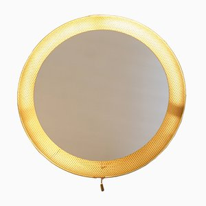 Mid-Century Illuminated Wall Mirror by Mathieu Matégot for Artimeta