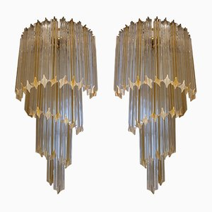 Italian Wall Lights by Paolo Venini, 1970s, Set of 2