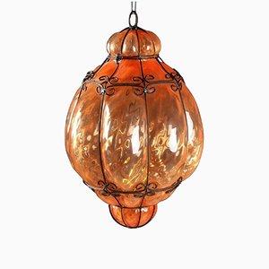 Italian Cage Art Glass Pendant Lamp from Seguso, 1960s