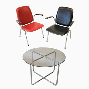 Side Chairs and Coffee Table by Gebroeders De Wit for Gispen, 1960s, Set of 3