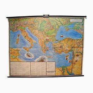 Mapa vintage de los viajes del apóstol Pablo de Verlag Ewald Becker