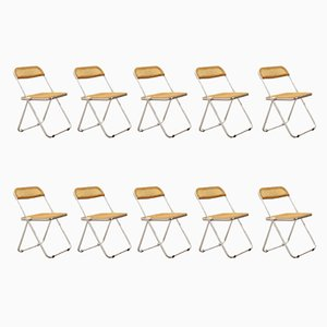 Plia Foldable Chairs by Giancarlo Piretti for Anonima Castelli, Set of 10