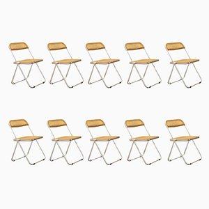 Plia Foldable Chairs by Giancarlo Piretti for Anonima Castelli, Set of 10