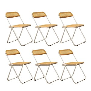 Plia Foldable Chairs by Giancarlo Piretti for Anonima Castelli, Set of 6