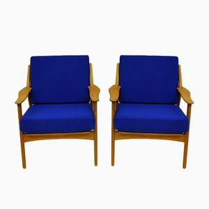 Danish Armchairs by Niels Koefoed for Koefoed Hornslet, 1950s, Set of 2