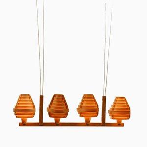 Lampada da soffitto vintage impiallacciata in legno di pino di Hans-Agne Jakobsson per Ellysett Markaryd