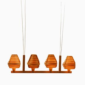 Lámpara de techo vintage de chapa de pino de Hans-Agne Jakobsson para Ellysett Markaryd