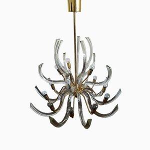 Lámpara de araña Mid-Century de Paolo Venini para Venini, años 60
