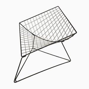Sedia modello Oti in rete metallica di Jørgen Gammelgaard per Ikea, 1986