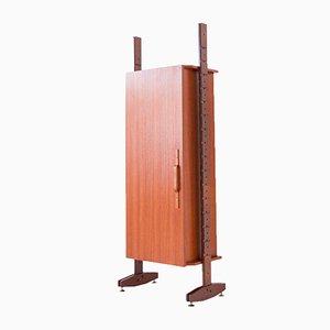 Mueble italiano de palisandro, caoba y latón, años 50