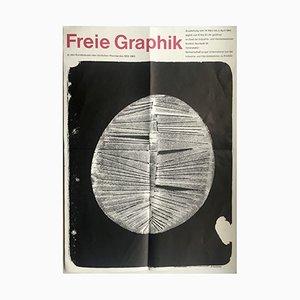 Poster della mostra Freie Graphik Mid-Century di W. Slansky, 1964