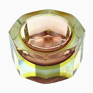Cenicero italiano de vidrio de Paolo Venini, años 60