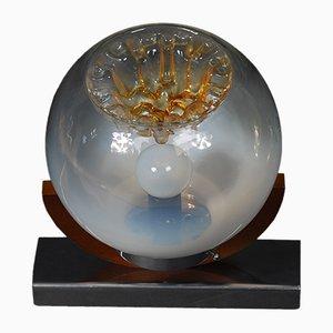 Lampada da parete vintage in vetro di Murano con un diffusore di Mazzega