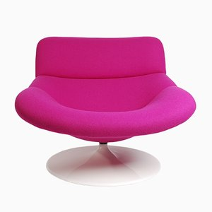 Vintage Violet F518 Lounge Swivel Chair by Geoffrey Harcourt for Artifort