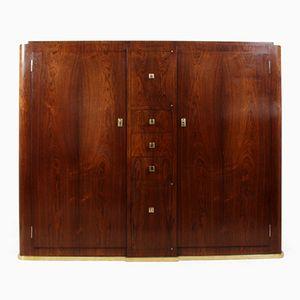 Oak & Rosewood Veneer Hall Cabinet, 1930s
