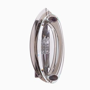 Vintage Two-Toned Glass Sconce from Veca