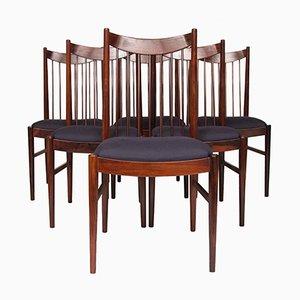 Mid-Century Palisander Esszimmerstühle von Arne Vodder für Sibast, 1960er, 6er Set